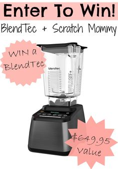 Win a blendtec blender so you can make healthy smoothies and better food decisions, with this blender it just make life easier.
