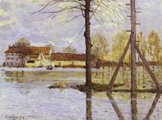 Ferry To The Ile De La Loge Flood 1872 Poster by Sisley Alfred. All posters are professionally printed, packaged, and shipped within 3 - 4 business days. Free Art Prints, Canvas Art Prints, Sisley Alfred, Monet, Cultura General, Impressionist Landscape, Landscape Art, Saint Louis, Oil Painting Reproductions