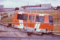 Krauss maffei maglev vehicle on test track for Toronto