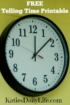 Grab your Free Telling Time Printable. Practice telling time to the hour and AM or PM