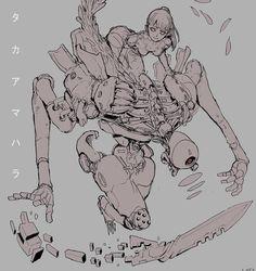 "Ching Yeh (@chingyeh005) on Instagram: ""Takaamahara #mecha #robot #anime #conceptart #design #armor #art #cyborg"""