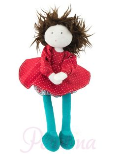 Come and see our fabulous Les Coquettes Moulin Roty rag dolls. Beautifully made with next day delivery and gift wrapping services available Red Polka Dot Dress, French Fabric, Gift Wrapping Services, Baby Play, Chiffon, Plush Dolls, Doll Accessories, Gift Tags, Baby Dolls