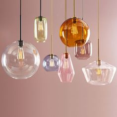 west elm Sculptural Glass Globe pendant – Clear ) - All For Decoration Pendant Lighting Bedroom, Kitchen Pendant Lighting, Modern Pendant Light, Home Lighting, Modern Lighting, Retro Lighting, Lighting Ideas, Wood Dining Bench, Dining Room
