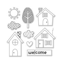 Sizzix Framelits Die Set 9PK w/Stamps - Welcome Home $29.99