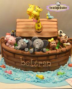 Noah's Ark cake by Con un toque de azucar