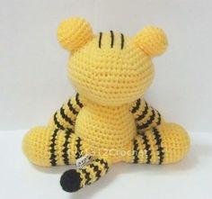 Tiger - Finished Handmade Amigurumi crochet doll Home decor birthday gift Baby shower toy