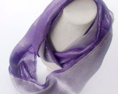 Amethyst silk scarf, Extra long scarf, Birthday gift, Purple Silk Scarf,  Boss gift, Sparkle gift scarf, Gift for long distance Girlfriend by blingscarves. Explore more products on http://blingscarves.etsy.com