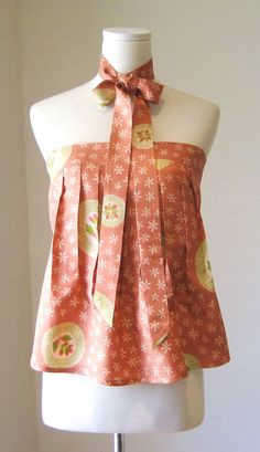 sale KIMONO Bustier floral pink dot spring flower by Shantique