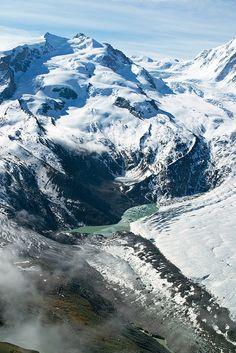 Monte Rosa.  #Switzerland #Schweiz #Suisse #Svizzera #mountains #landscape