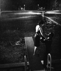 marcello & moreau in la notte .1961 antonioni