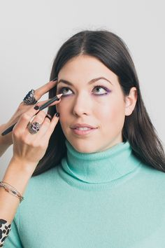 """For the finishing touch, apply a beige liner to your lower waterline. """"Black can be too stark of a contrast against the green eyes and white liner looks artificial,"""" says Shten. She likes Three Custom Color Liner in Light Clarifier. It opens eyes up in a natural way."""