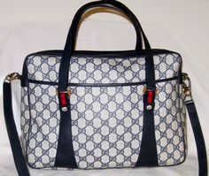 Sale 900 Fabulous w/Strap GUCCI BOSTON TOTE Briefcase Gucci Handbag Satchel Carryon Messenger Red Blue by renee1victor3 on Etsy