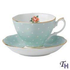 Royal Albert Polka Rose Vintage Formal Teacup & Saucer Boxed Set by Royal Albert - Fine Bone China, http://www.amazon.com/dp/B007V2U5V4/ref=cm_sw_r_pi_dp_QIPhrb18D4YRJ