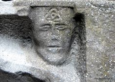 Carved medieval head, St. Mary's church, New Ross, Co. Wexford