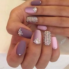 26 Cute Matte Nail Art Designs And Ideas You'll Love These trendy Nails ideas would gain you amazing compliments. Check out our gallery for more ideas these are trendy this year. Square Nail Designs, Best Nail Art Designs, Nail Designs Spring, Bling Nails, Fun Nails, Shellac Designs, Nail Art Design Gallery, Matte Nail Art, Nail Nail