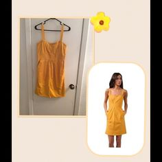 ☀️Authentic Marc by Marc Jacobs Dress☀️ This gorgeous yellow sun dress is a must have for this summer! Perfect for any occasion, plus this dress has pockets! ❤️ There is a small blemish on the back left hand side, but it is only noticeable up close. Otherwise in wonderful condition! Size 6 Marc by Marc Jacobs Dresses