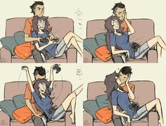 """There is nothing better than gamer relationship<<<<<<< TODAY ON """"They Didn't Know it was Homestuck""""! Oh and btw that is an abusive relationship. She paralyzed him and later kills him. Cute Couple Comics, Couples Comics, Cute Comics, Cute Couple Memes, Couple Quotes, Funny Comics, Deutsche Girls, Le Couple Parfait, Gamer Couple"""