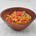 Wheat Berry Salad with Corn and Peppers