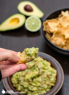 Salsa Guacamole Dip made with fresh avocados, tomatoes, onions & cilantro. Healthy and crowd pleasing as everyone loves these two.