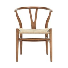 Woven Shaker Chair in Walnut | dotandbo.com                    Love this chair- would go with anything! #DotandBoSummer