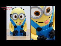 (3) Minion Torte - 3D Fondanttorte | 2 Varianten | ausführliche Anleitung auf deutsch | Verlosung - YouTube