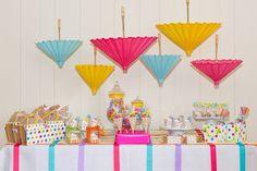 Party table at a Polka Dot Party #polkadot #partytable