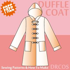 Dufflecoat sewing patterns & how to make, Mantel, Japanese Kind 100-140 und…