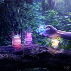 Stocking up on jars of hope, happiness, and love, to use when needed.  ~Charlotte (PixieWinksFairyWhispers)