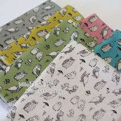 K873_55 - owl fabrics - ( 6 color to choose) in Half Yard by billycottonshop0413 on Etsy https://www.etsy.com/listing/202717362/k87355-owl-fabrics-6-color-to-choose-in