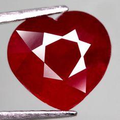 5.06 Ct. Splendid! Natural Ruby Heart Facet Top Blood Red Madagascar #Gemnatural