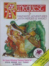 Runequest RPG, Second edition Boxed set from Chaosium. Published in 1979