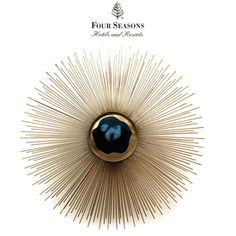 Limited Production Design & Stock: Elegant Polished Blue Agate Starburst Wall Light * Brass * E14 * Dia: 20 inches * Custom Sizes Available * InStyle Decor & Philpotts Interiors Hotel Installation * Featured @ Four Seasons Hawaii