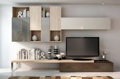 Find home projects from professionals for ideas & inspiration. Modern TV Cabinet Wall Unit- Living room by Innoire Design Tv Stand Shelves, Tv Stand With Storage, Tv Shelf, Room Shelves, Living Room Tv Unit, Living Room Storage, Storage Room, Living Rooms, Home Decor Furniture