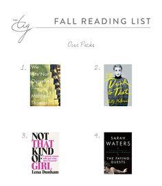 #TheTIG Fall Reading List
