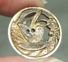 Carved MOP Pearl Shell Button Bird | eBay