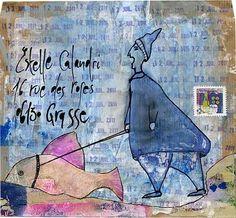 © Christine LE ROY  http://www.christine-le-roy.com #mailart                                                                                                                                                      Plus