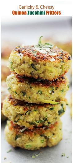 Packed with Quinoa and Zucchini, these Fritters are SO GOOD and SO easy to make! gluten free recipe
