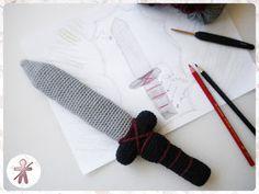 Free crochet pattern for Viking toy sword
