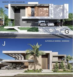 Facade house - Different facades G or J What is your style projet Modern Exterior House Designs, Modern Villa Design, Modern Architecture Design, Architectural Design House Plans, Facade Design, Residential Architecture, Amazing Architecture, Exterior Design, House Architecture