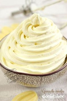 Recette de la ganache montée au chocolat blanc et à la vanille