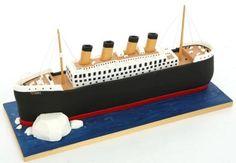 Titanic Titanic Cake, Real Titanic, Happy Birthday, Birthday Cake, Birthday Ideas, Fondant, Sleepover, School Projects, How To Make Cake