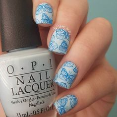 Stamping plate is from @uberchicbeauty. I used Royal Blue by @bundlemonster for the stamping.