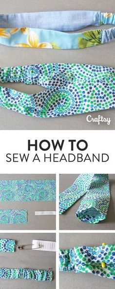 Learn how to sew a quick and easy headband with your leftover fabric scraps!
