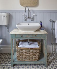 Give an old piece of furniture a new lease of life and fresh purpose with a clever revamp. If you can't find an off-the-peg design that suits your style, why not consider repurposing a piece of furniture you already own? Bad Inspiration, Bathroom Inspiration, Bathroom Styling, Bathroom Interior Design, Bathroom Furniture, Diy Furniture, Rustic Furniture, Antique Furniture, Furniture Storage
