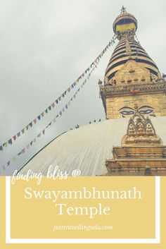 Swayambhunath Temple is regarded as one of the most important Buddhist temple and is one of Nepal's many UNESCO World Heritage cultural site. The visit will help you embrace Nepal's sacred culture and its history.