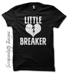 Boys Valentine Shirt - Little Heart Breaker Shirt / Toddler Valentine Outfit / New Baby Clothes / Kids Girls Broken Heart Tshirt / Black Tee by Scrapendipitees on Etsy