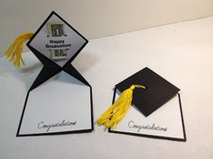 """I saw this Graduation Card on Pinterest, but was unable to find any instructions on how it was made. After an evening of """"playing"""" I finall..."""
