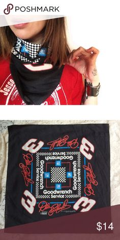 Dale Earnhart vintage racecar bandana Super fast, super rad vintage Dale Earnhart bandana. Soft vintage feel and graphics in pristine condition. Measurements: 20.5 in x 20.5 in Vintage Accessories Scarves & Wraps
