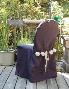 Rosette Styled Chair Covers Made to Order SALE by craftzies, $37.00