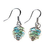 Captured Sparkle earrings - Aqua